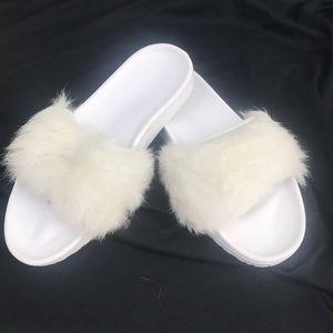 UGG Shoes - Women's UGG WHITE ROYALE SLIDE #7